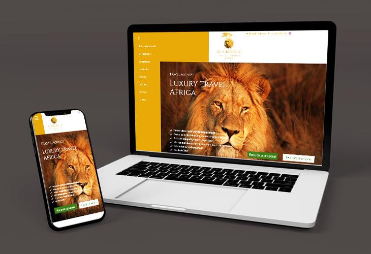Logo en Website voor AfrikDelux.com
